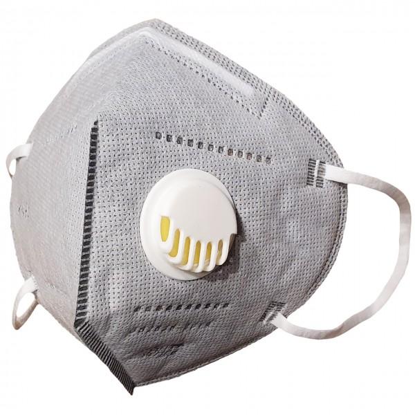 KN95 Mund-Nasen-Maske mit Ventil & Aktivkohlefilter